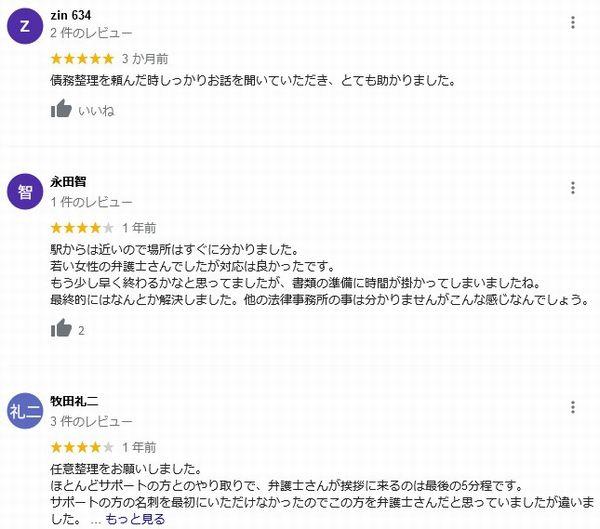 弁護士法人ひばり法律事務所口コミ評判